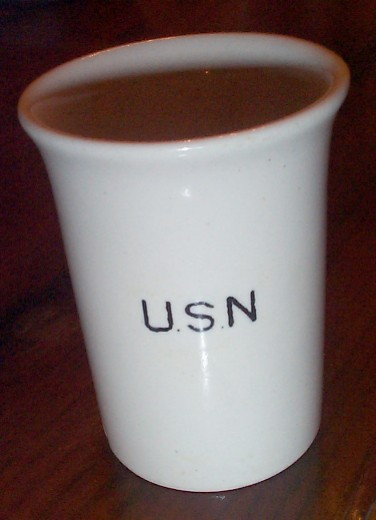 us navy enlisted porcelain water tumbler