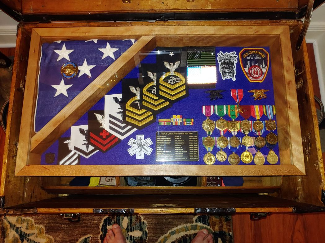 Military, Army, Air Force, or Navy Retirement Gift Shadow Box Idea for him or for her