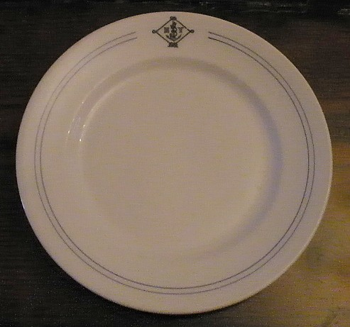 NY Naval Militia Dinner Plate with Blue Striping