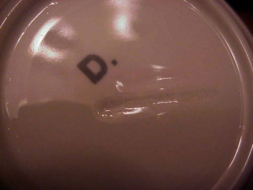 NYNM 5 inch  condiment bowl backstamp