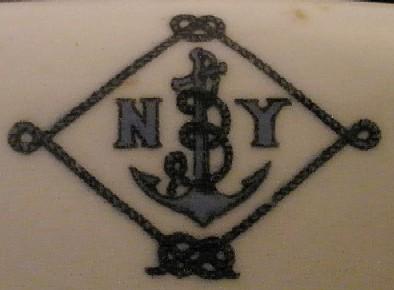 NY Naval Militia Serving Bowl, Topmark NYNM