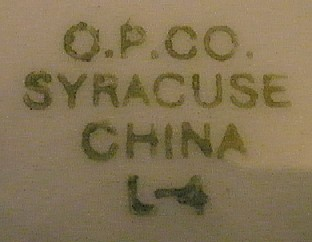 O.P.C.O. Syracuse China, L11