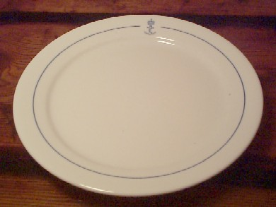 royal norwegian china navy salad plate