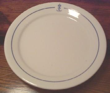 Kongelig Norske Marine royal norwegian navy salad plate