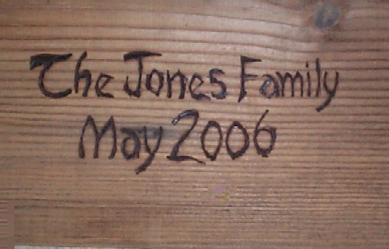 wood burnt engraving for Family Gift