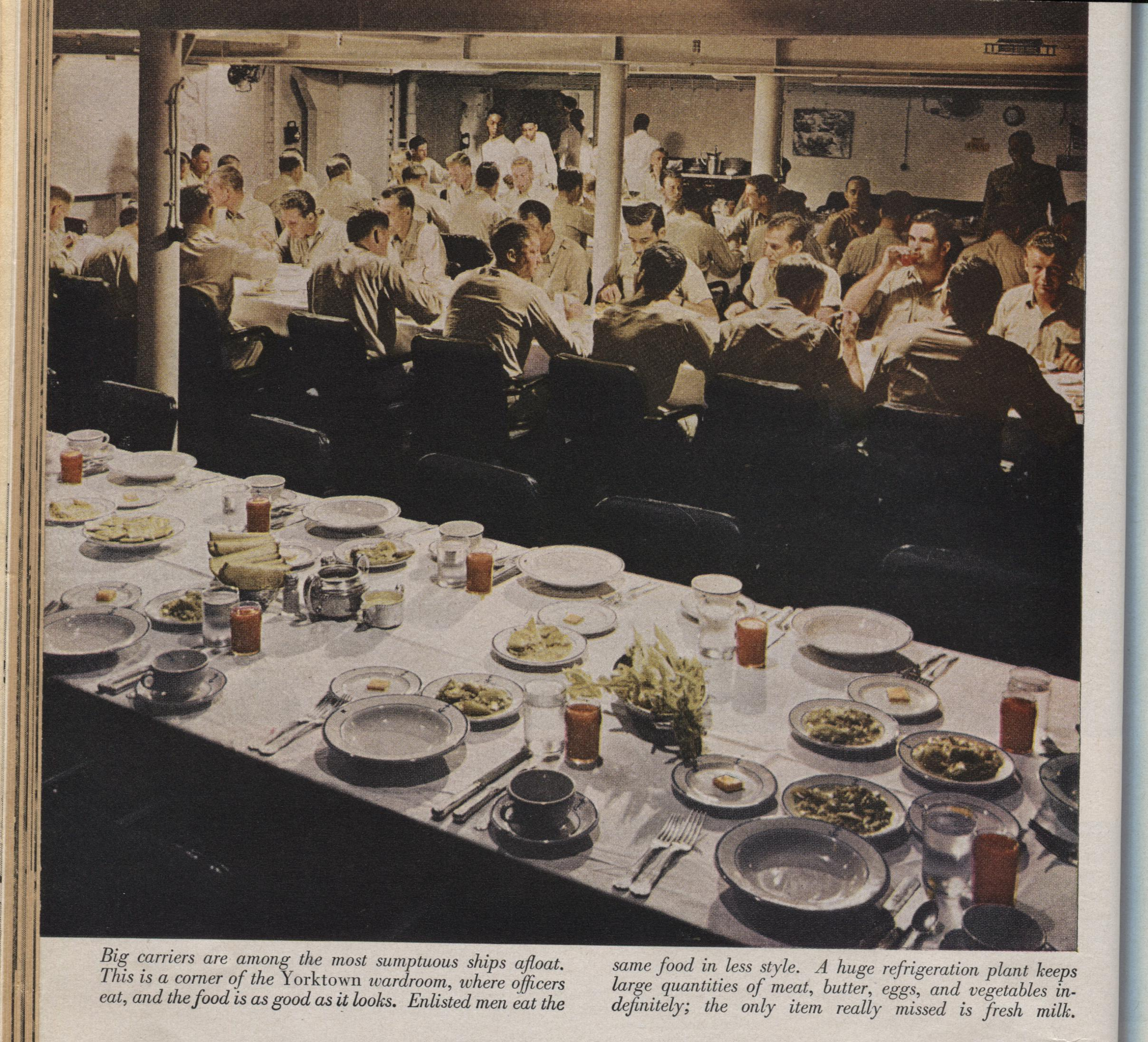 Officers Wardroom Mess WWII USS Yorktown