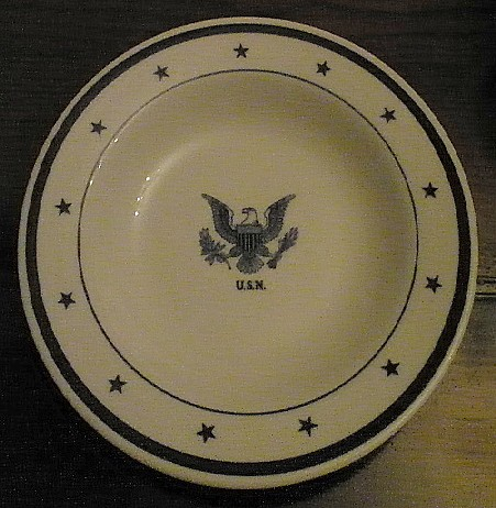 Senior Officers Cereal Bowl - Eagle and USN