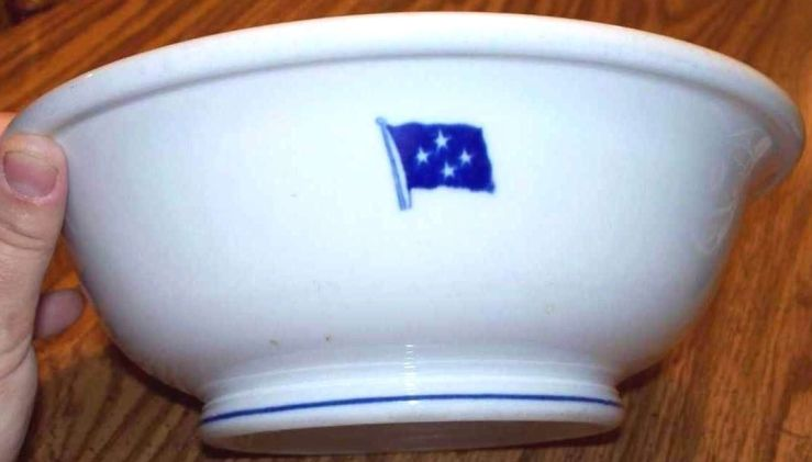 wwii us navy fleet admiral, 4 stars serving bowl