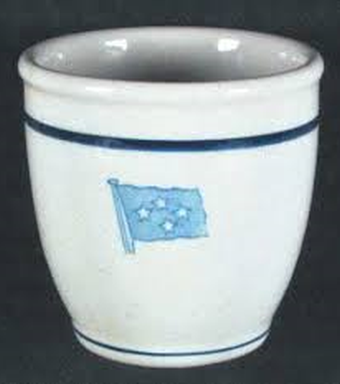wwii us navy fleet admiral, 4 stars watchstanding mug or egg cup