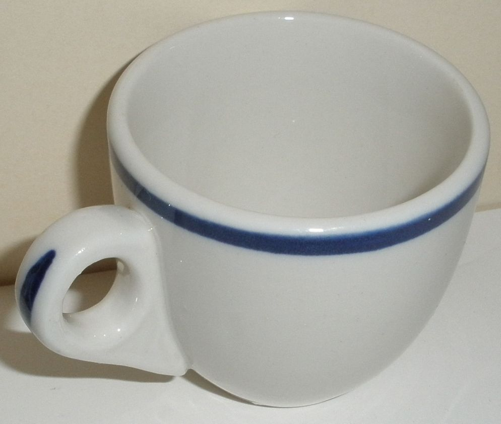 WWII US Navy Fleet Admiral 4 Star demitasse coffee cup or expresso coffee cup