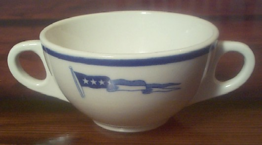 captain double handle bouillon cup