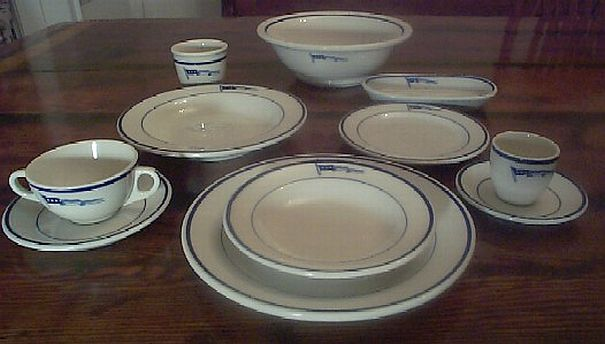 navy captain full placement dinnerware