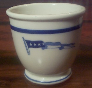 captain footed cup