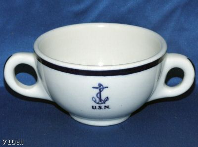wardroom officer bouillon cup, anchor usn