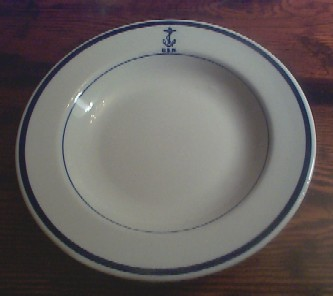 navy wardroom officer soup bowl, anchor usn