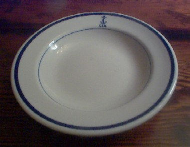 navy wardroom officer salad plate, anchor usn