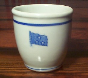 WWII US Navy Vice Admiral 3 Star Egg Cup or Watchstanding Mug