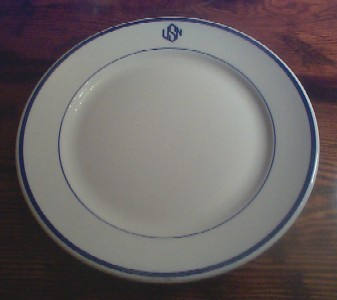 warrant officer dinner plate,  usn