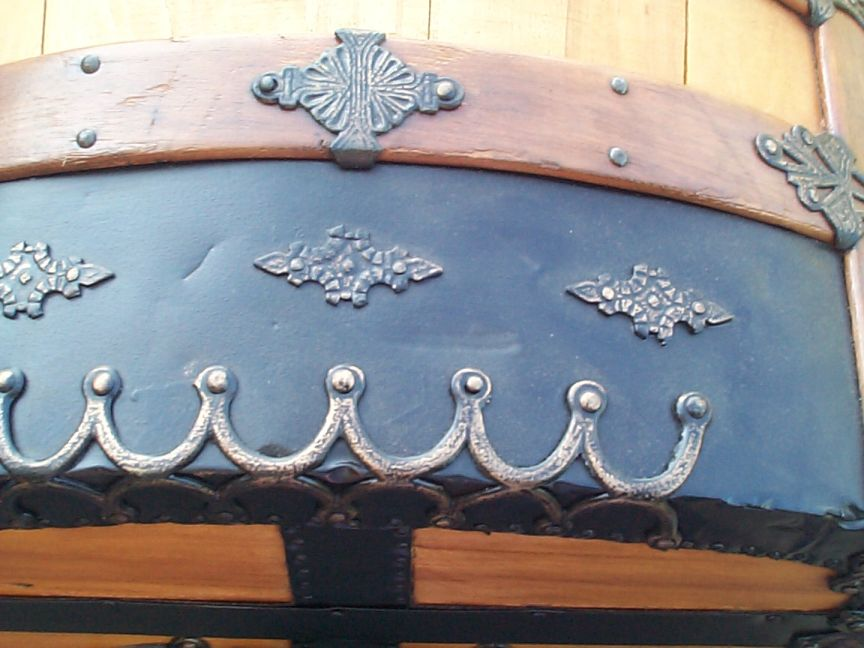 restored victorian dome top humpback antique trunk for sale 648