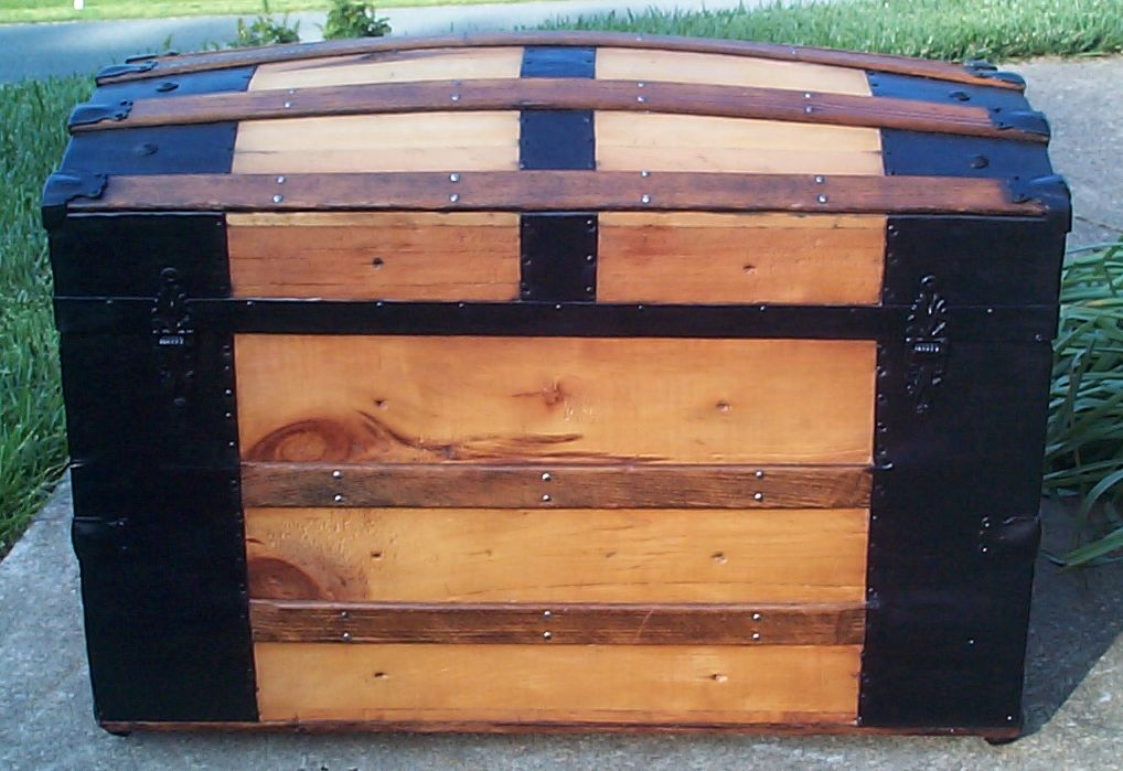 restored victorian dome top trunk for sale 662