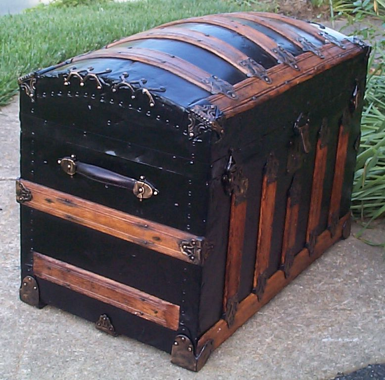 restored victorian dome top trunk for sale 663