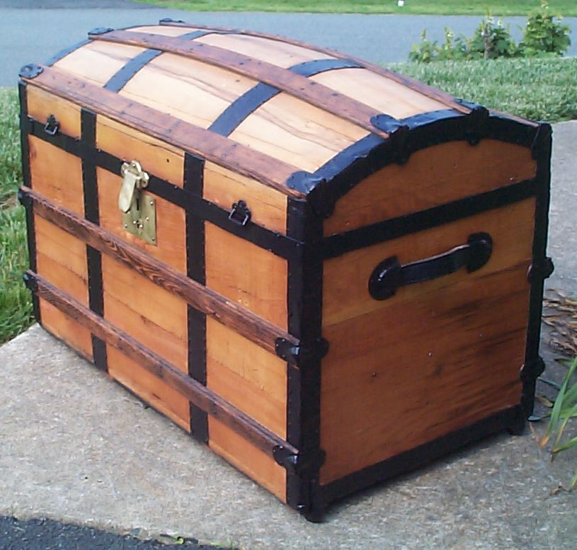 restored victorian dome top trunk for sale 667