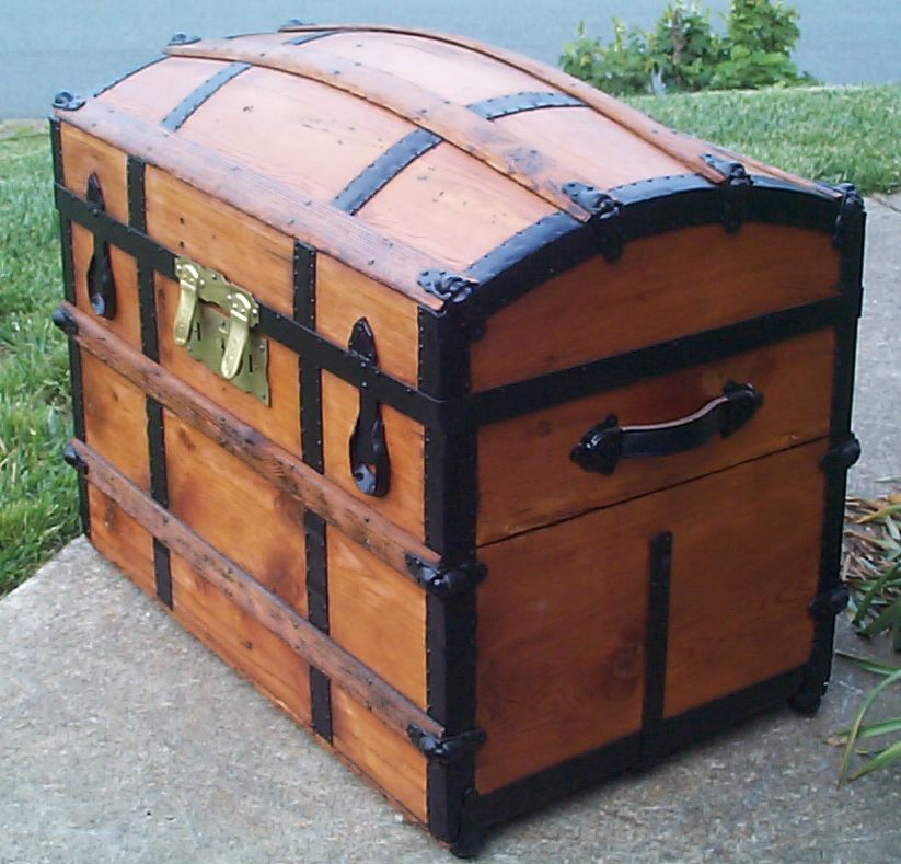 restored victorian dome top trunk for sale 668