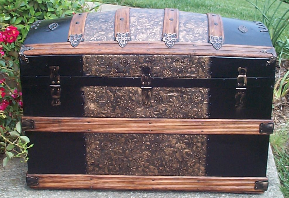 restored victorian dome top trunk for sale 670