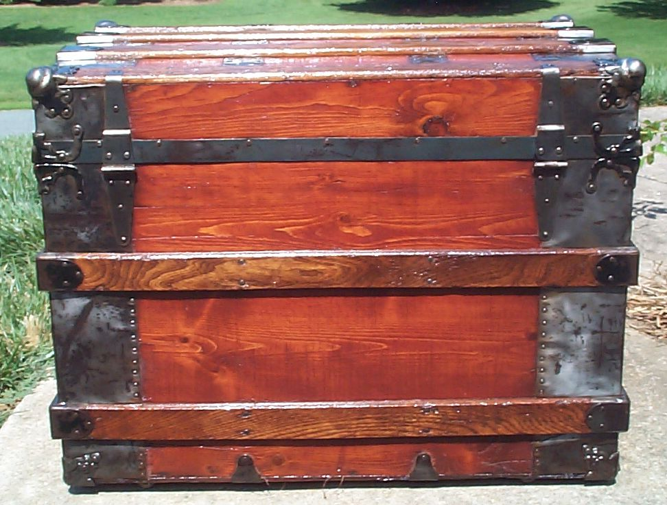 restored victorian all wood flat top tunk for sale 687