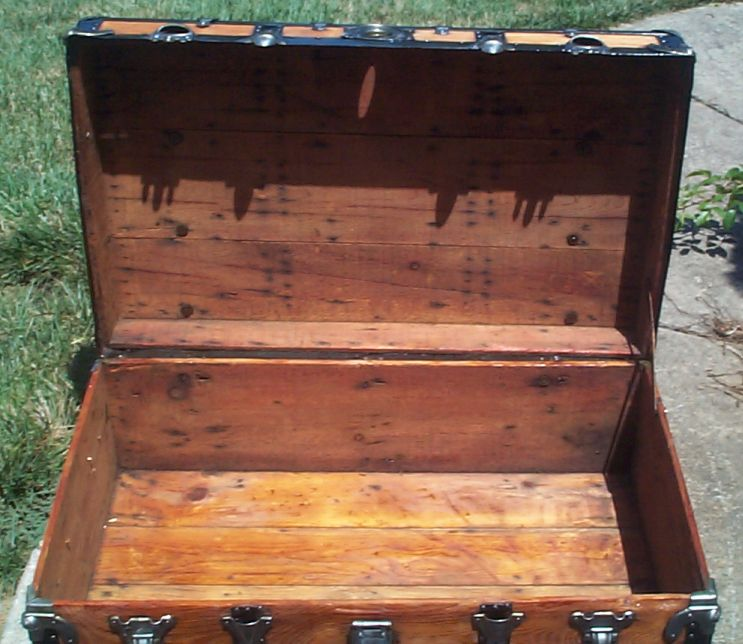 restored victorian all wood flat top tunk for sale 692