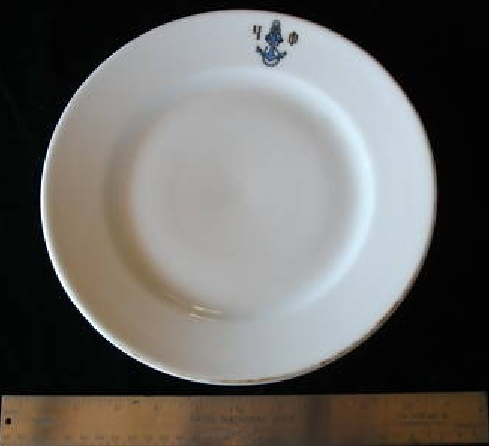 imperial russian navy dinner plate
