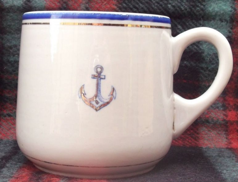 Post WWII Cold War Soviet Russian Navy Mug or Cup