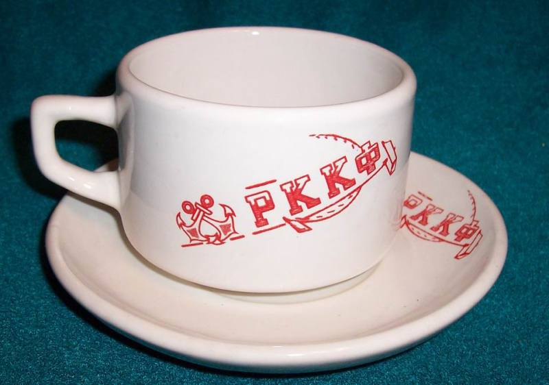 Soviet Navy Red fleet Souvenier Set Cup and Saucer