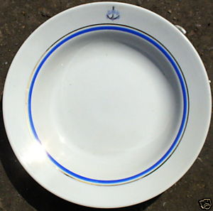 Post WWII Cold War Soviet Russian Red Navy Dinner Plate
