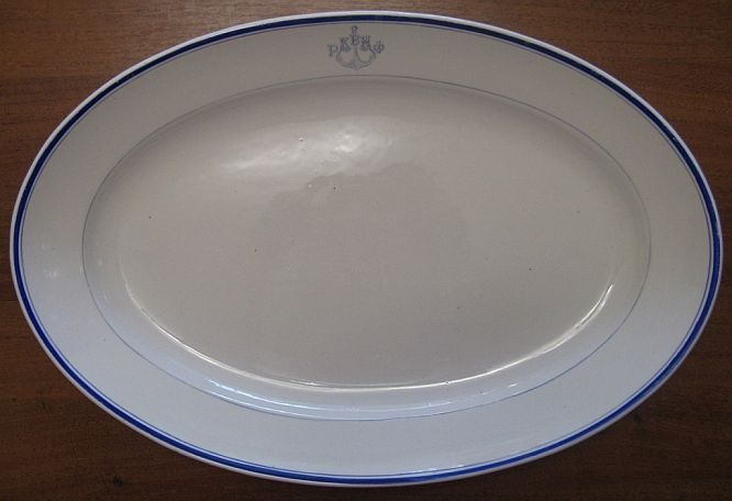 1920-1945 WWII Red fleet Russian Navy Platter