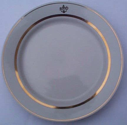 Post WWII Cold War Soviet Navy Senior Officers Salad Plate
