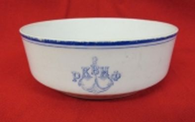 Post WWII Cold War Soviet Russian Red Navy serving bowl