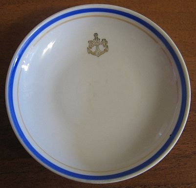 Post WWII Cold War Soviet Russian Red Navy Small Dish or Butter Pat
