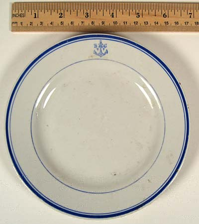 Post WWII Cold War 1950-1970 Soviet Red Navy bread and butter Plate
