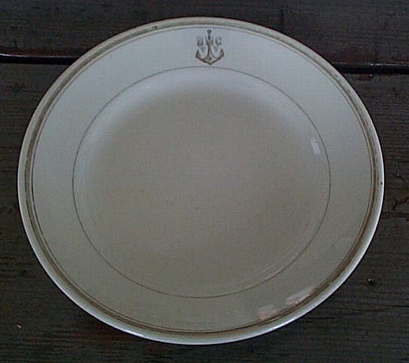 Post WWII Cold War Soviet Navy Senior Officers Dinner Plate #2
