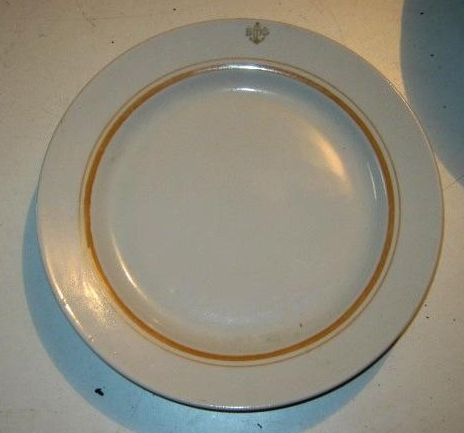 Post WWII Cold War Soviet Navy Senior Officers Dinner Plate