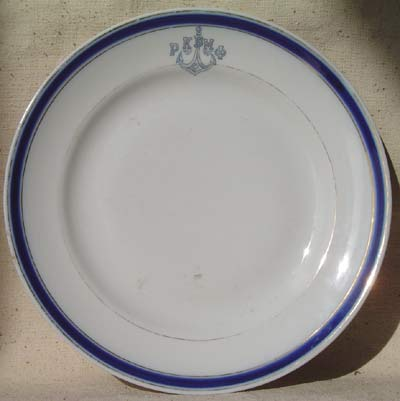WWII Red fleet Russian Navy Dinner Plate