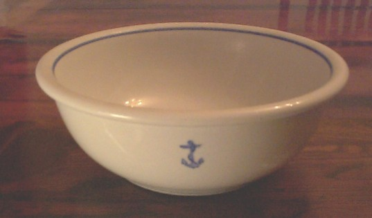 us navy large serving bowl, anchor