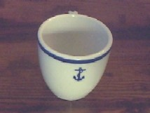 us navy demitasse coffee cup, anchor
