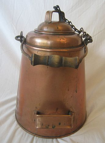 1890s us navy enlisted mess hall galley brass and copper coffee pot