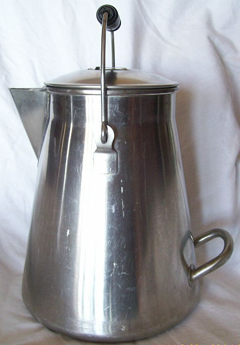 early 1900's 9 Quart Stainless Steel Coffee Pot with Lid