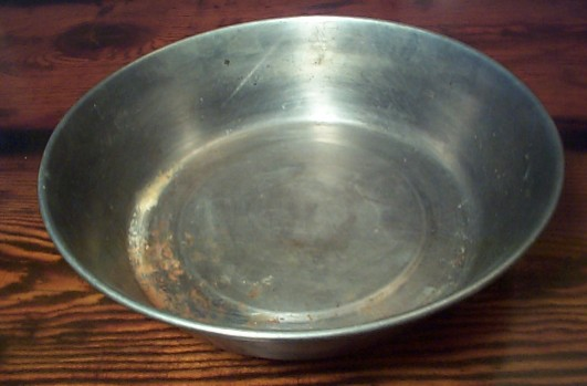 Navy Enlisted Mess Deck Stainless Steel Food or Soup Bowl