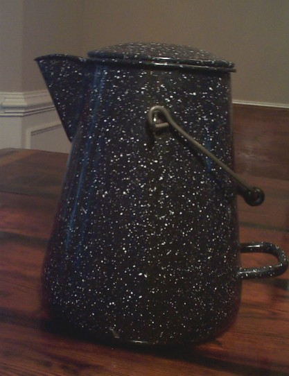 Large Doubled Handled Navy Enlisted Coffee Pot