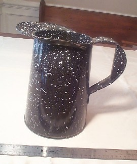 Large Graniteware Measuring Pitcher or Cup
