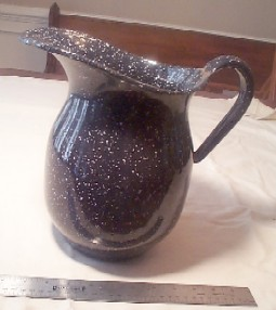 us navy enlisted large graniteware water or milk pitcher